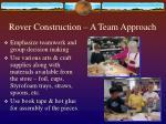 rover construction a team approach
