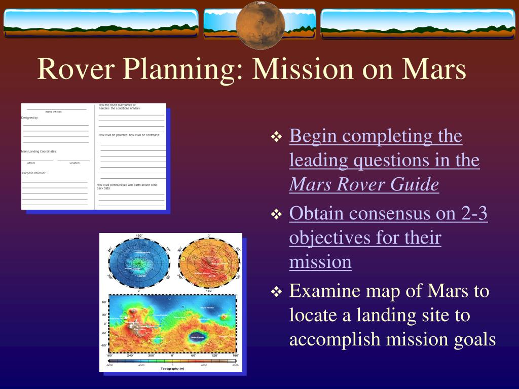 Rover Planning: Mission on Mars