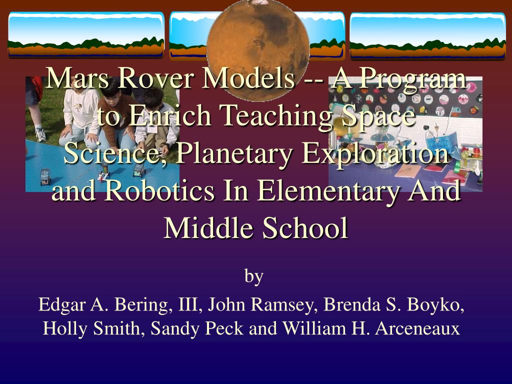 Mars Rover Models -- A Program to Enrich Teaching Space Science, Planetary Exploration and Robotics In Elementary And Middle School