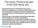 the future proud to be part of the icsi family but