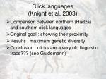 click languages knight et al 2003