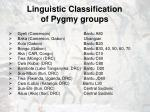 linguistic classification of pygmy groups