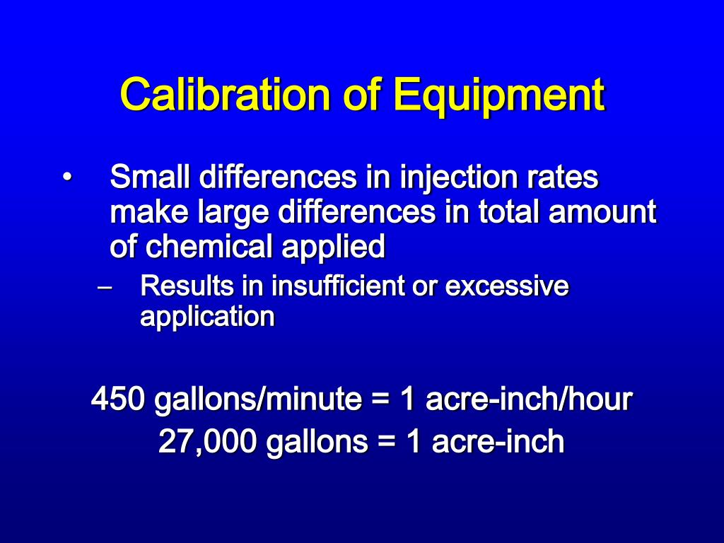 Calibration of Equipment