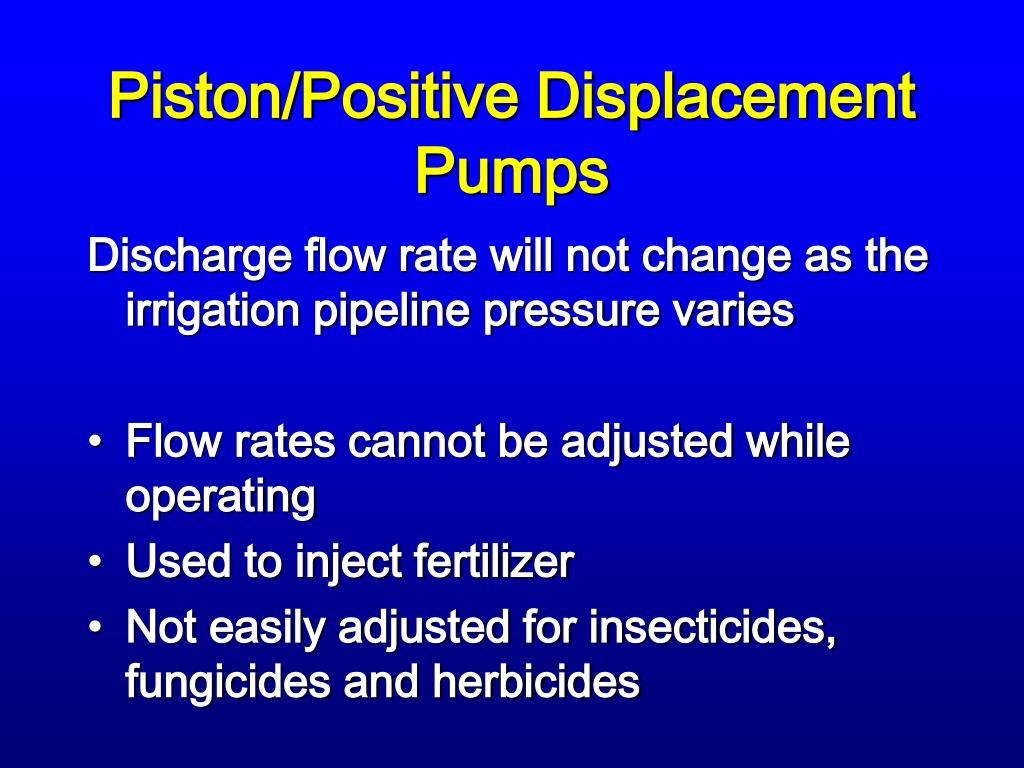 Piston/Positive Displacement Pumps
