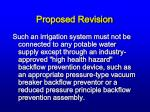 proposed revision