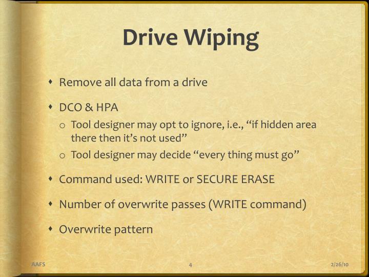 Drive Wiping