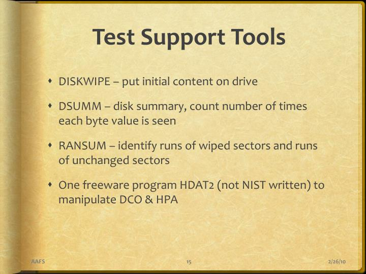 Test Support Tools