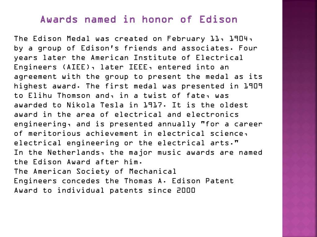 Awards named in honor of