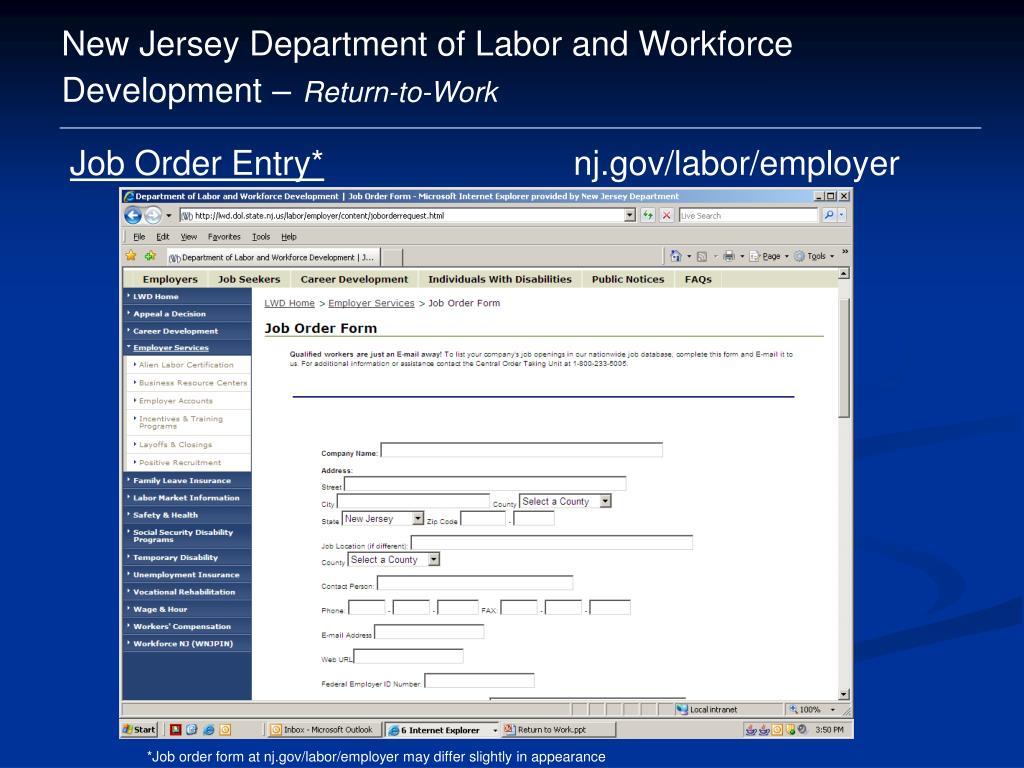 Job Order Form