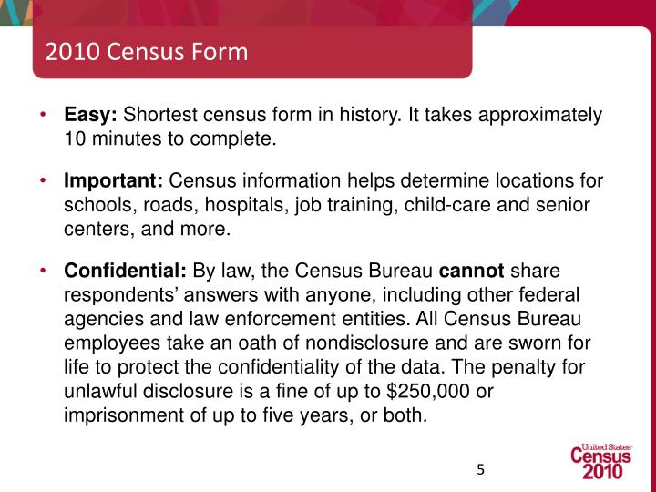 2010 Census Form