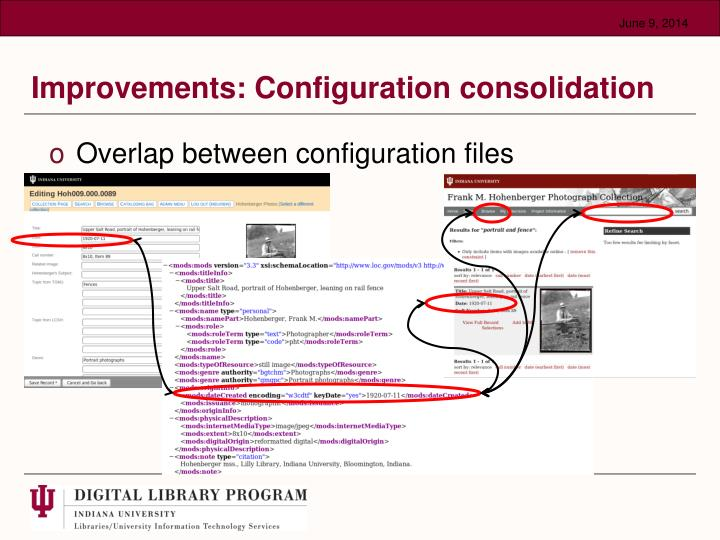 Improvements: Configuration consolidation