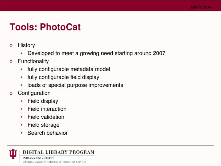 Tools: PhotoCat