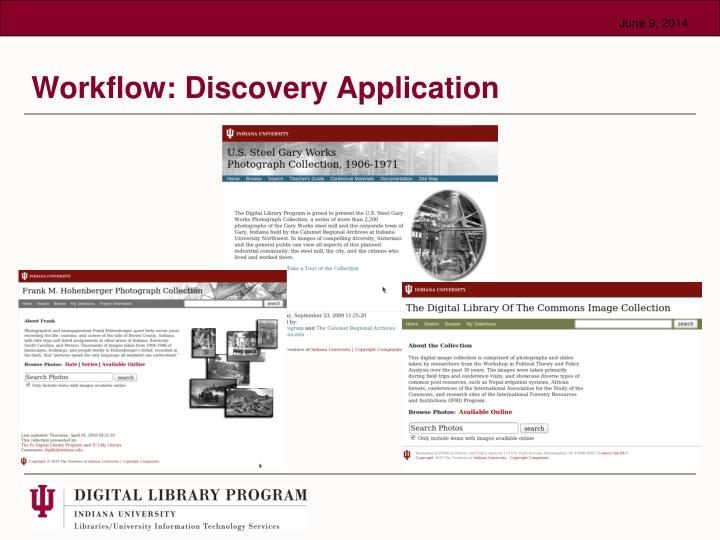 Workflow: Discovery Application