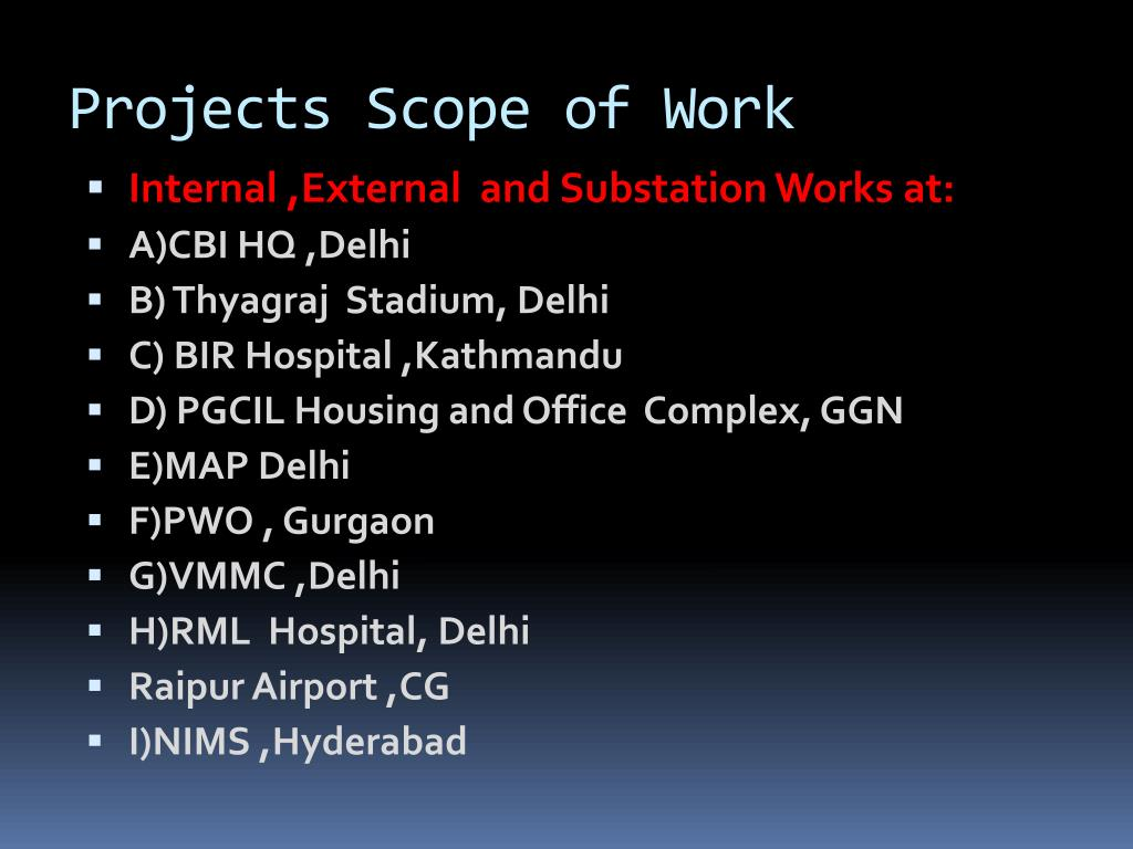 Projects Scope of Work