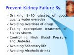 prevent kidney failure by