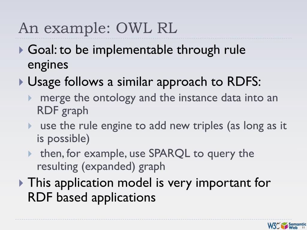 An example: OWL RL