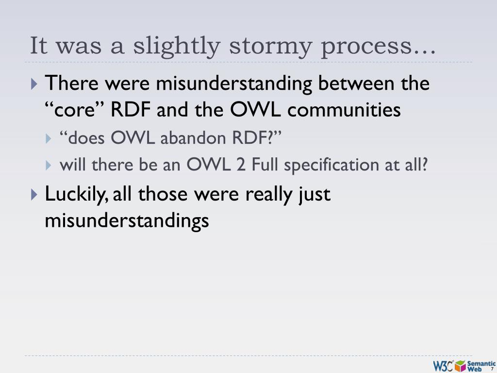 It was a slightly stormy process…