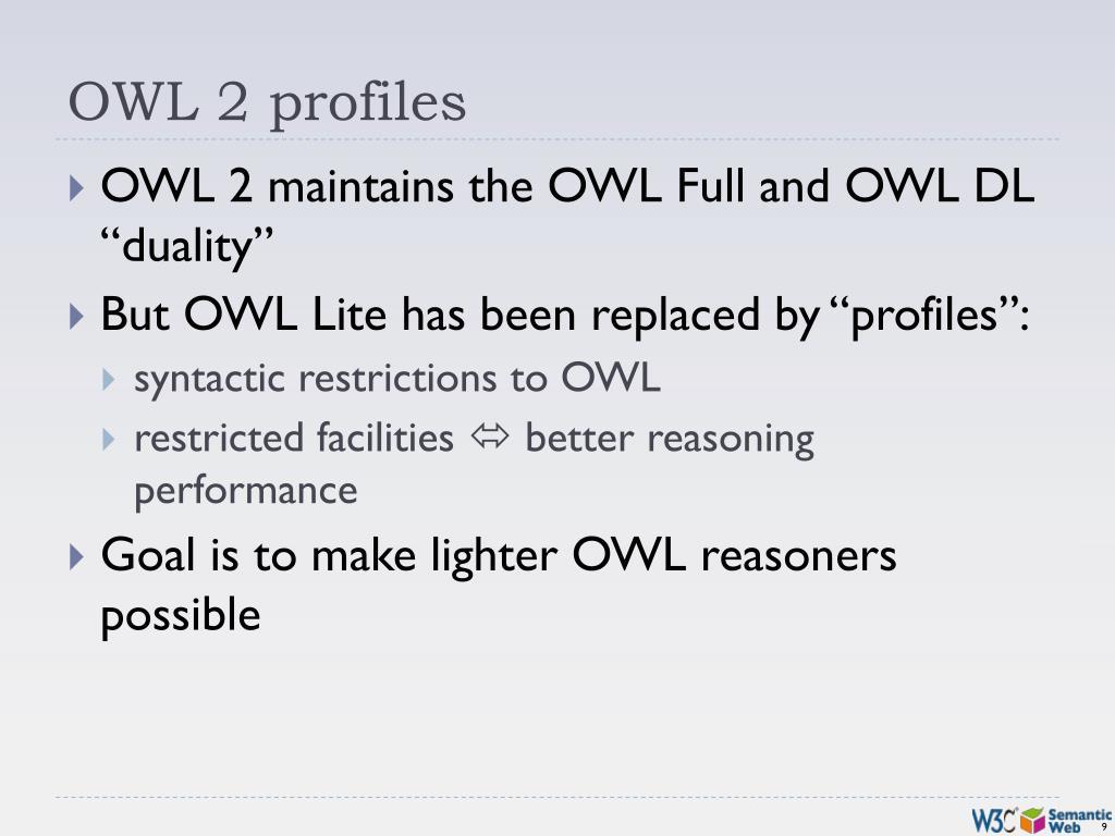OWL 2 profiles
