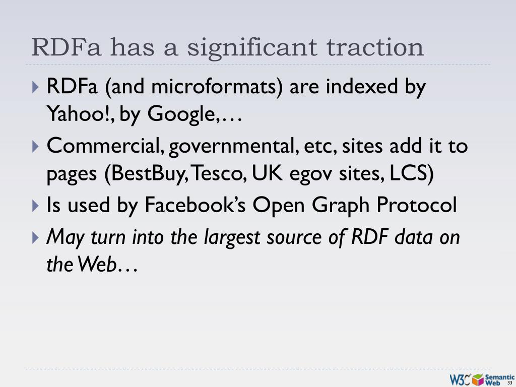 RDFa has a significant traction
