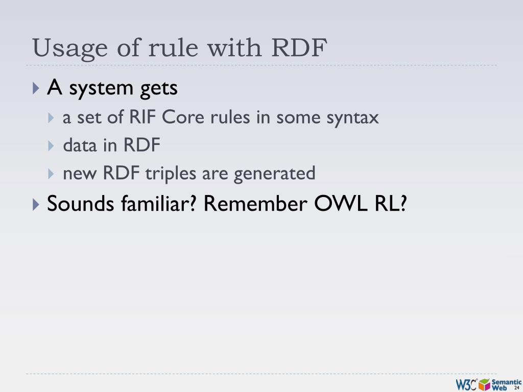 Usage of rule with RDF