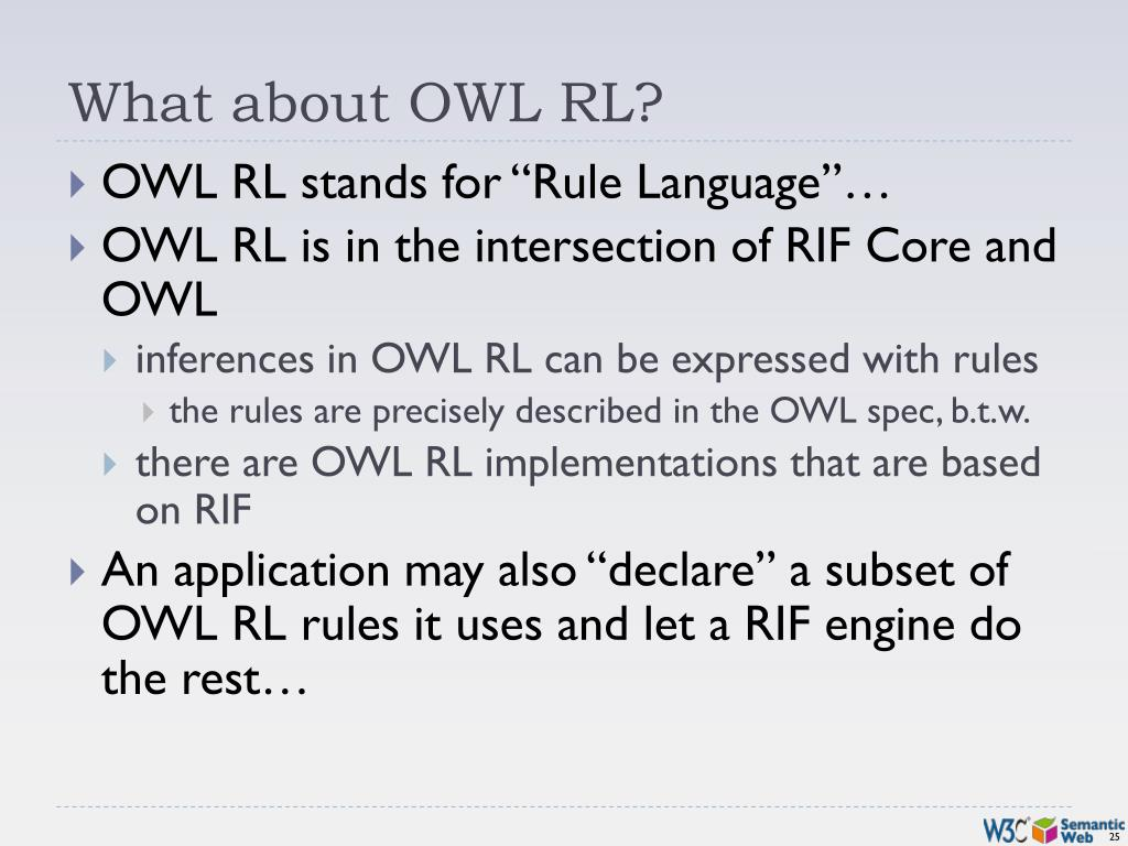 What about OWL RL?