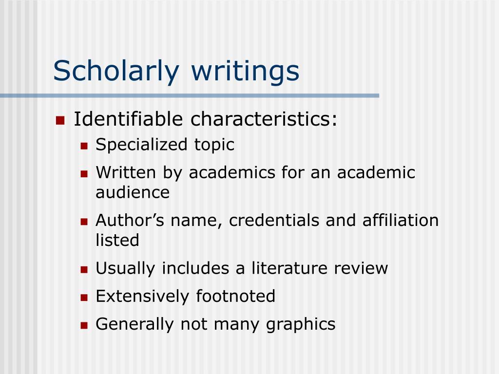 Scholarly writings