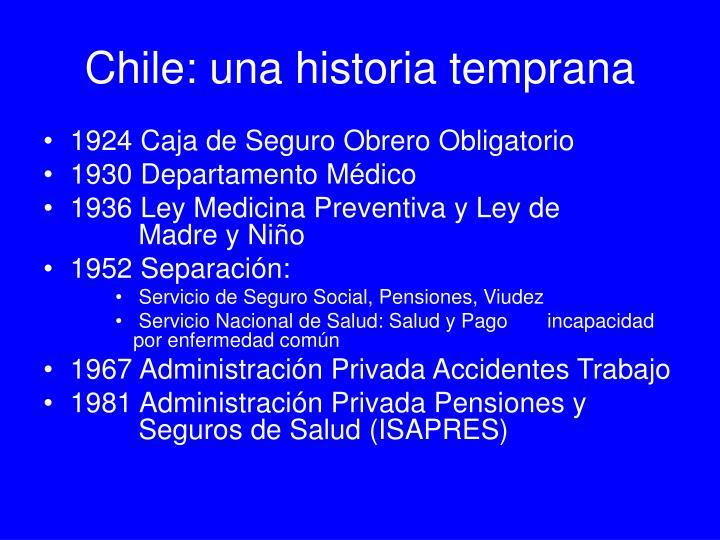 Chile: una historia temprana