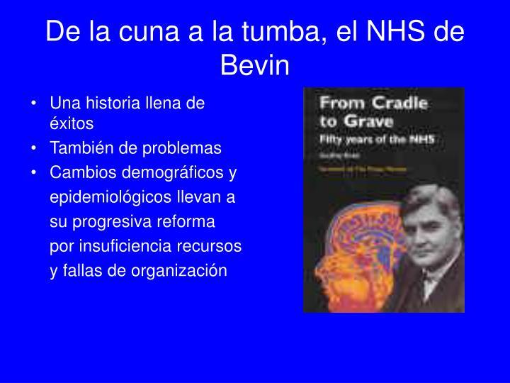 De la cuna a la tumba, el NHS de Bevin