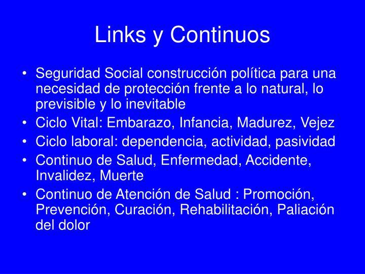 Links y Continuos