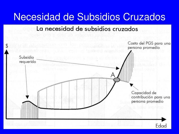 Necesidad de Subsidios Cruzados