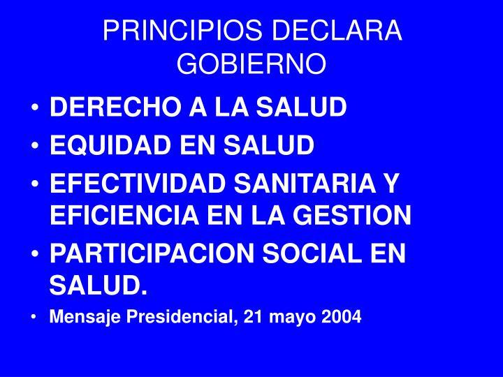 PRINCIPIOS DECLARA GOBIERNO