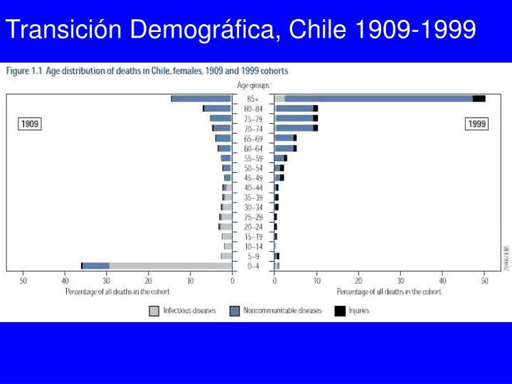 Transición Demográfica, Chile 1909-1999