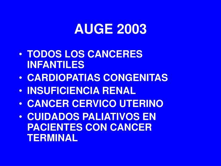 AUGE 2003