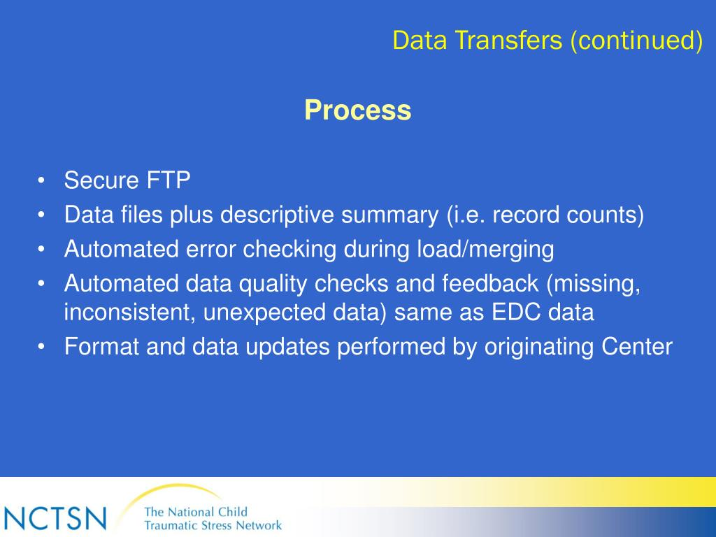 Data Transfers (continued)