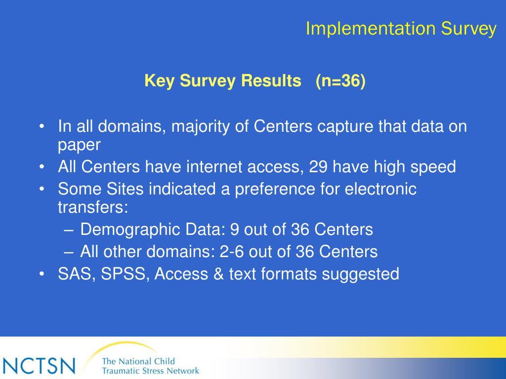 Implementation Survey