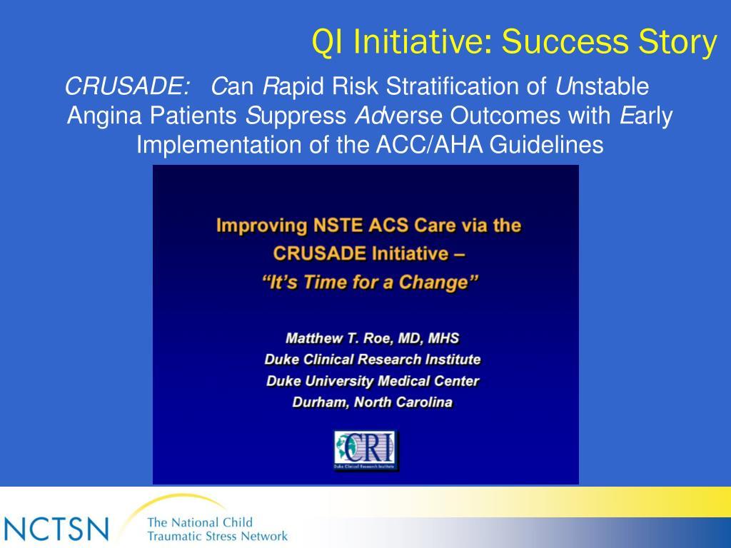 QI Initiative: Success Story