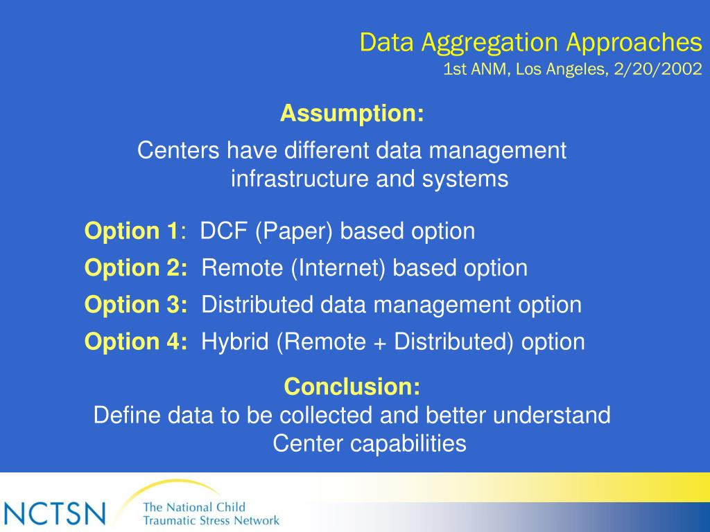 Data Aggregation Approaches