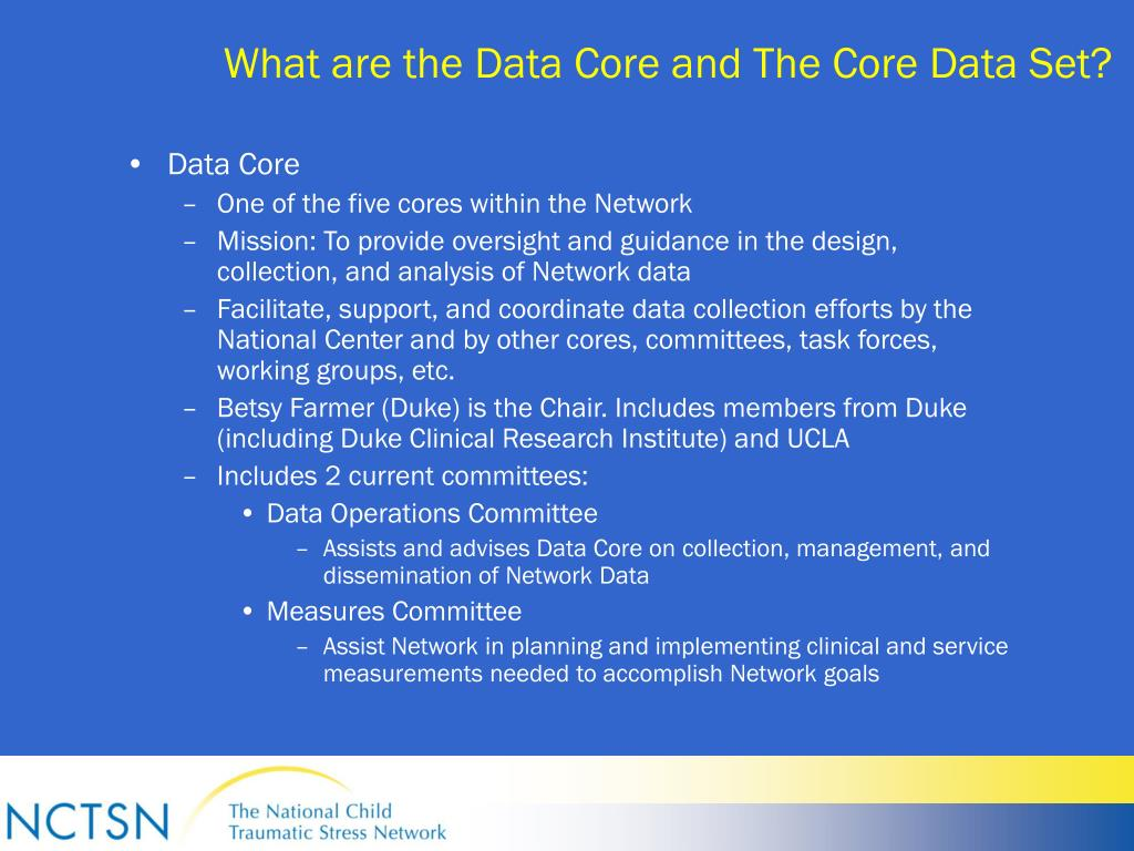 What are the Data Core and The Core Data Set?