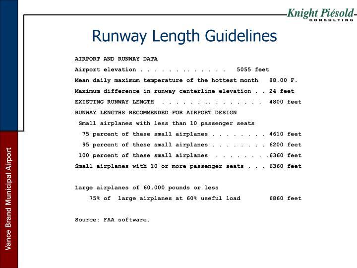 Runway Length Guidelines