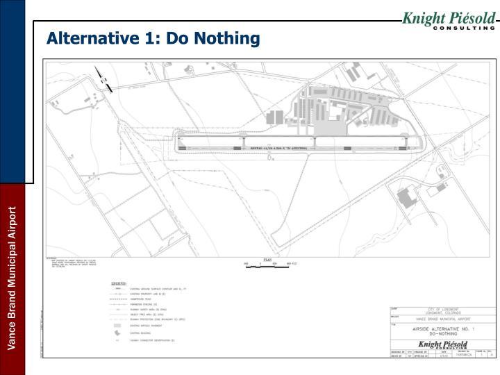Alternative 1: Do Nothing