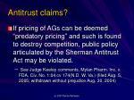 antitrust claims