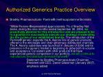authorized generics practice overview2