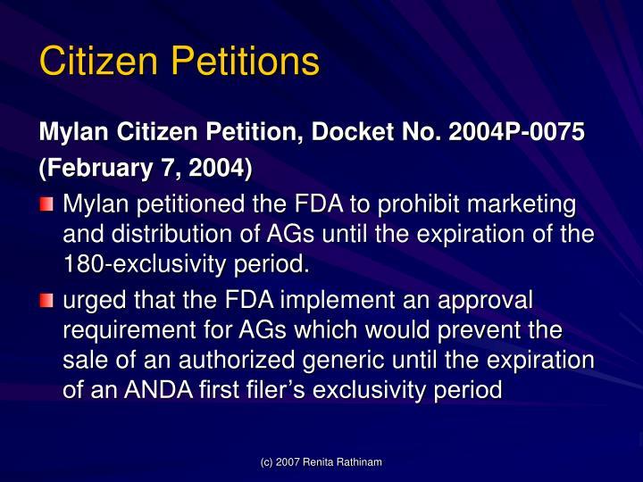 Citizen Petitions