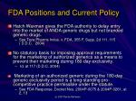 fda positions and current policy1
