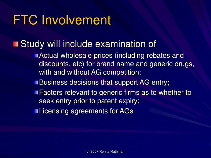 FTC Involvement
