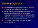 pending legislation1