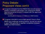 policy debate proponent views cont d