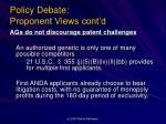 policy debate proponent views cont d1