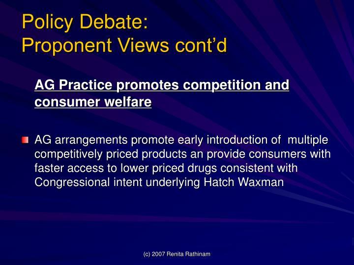 Policy Debate: