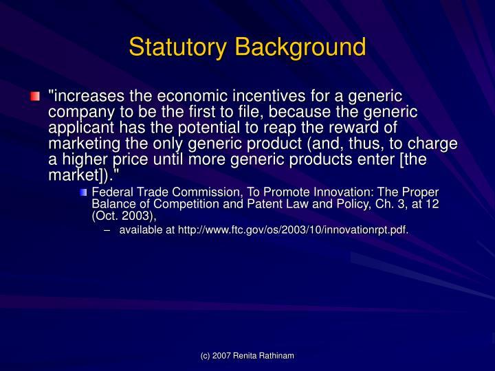 Statutory Background